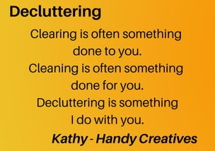 Decluttering meaning